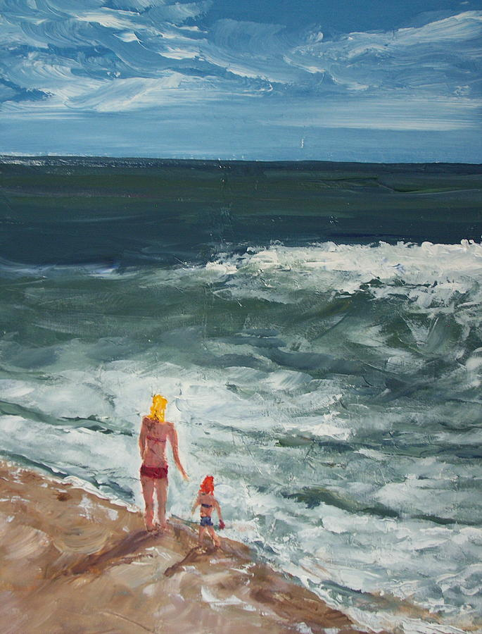 Ocean Painting - Beach Babes II by Pete Maier
