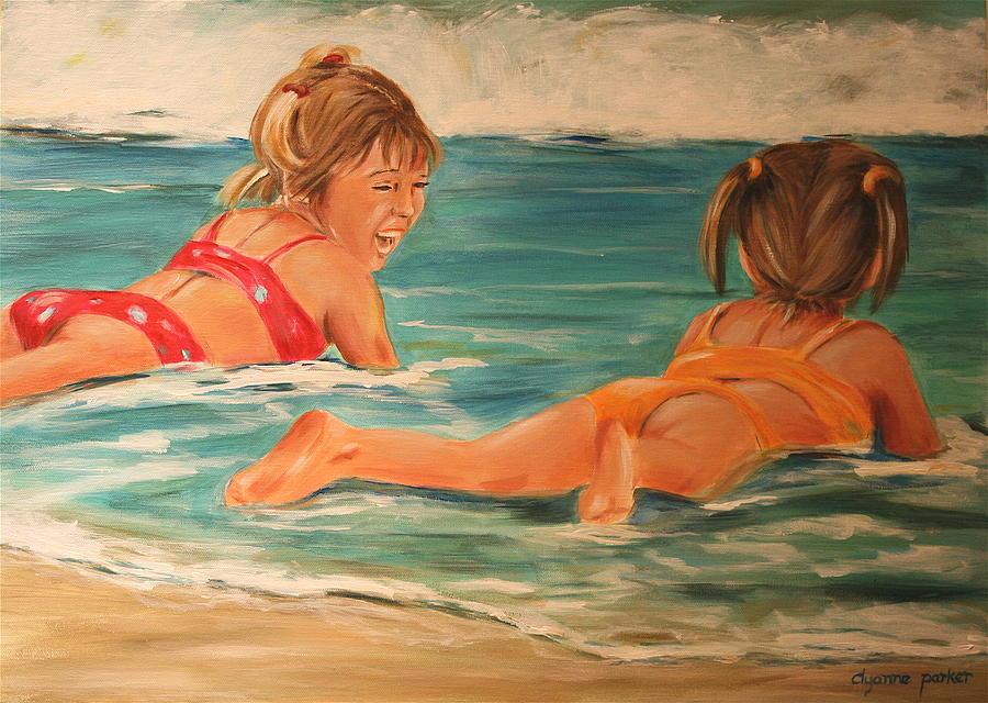 Beach Painting - Beach Babies by Dyanne Parker