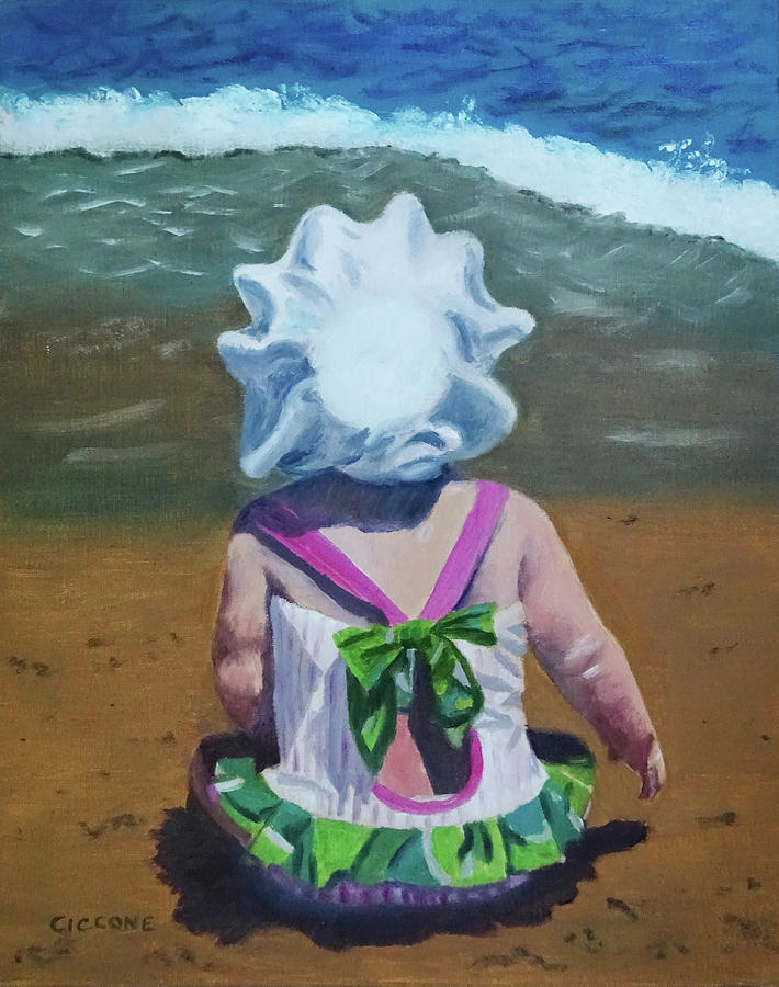 Beach Baby in Bonnet by Jill Ciccone Pike
