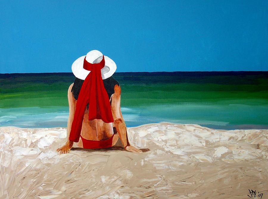 Beach Painting - Beach Baby by Jacqui Simpson