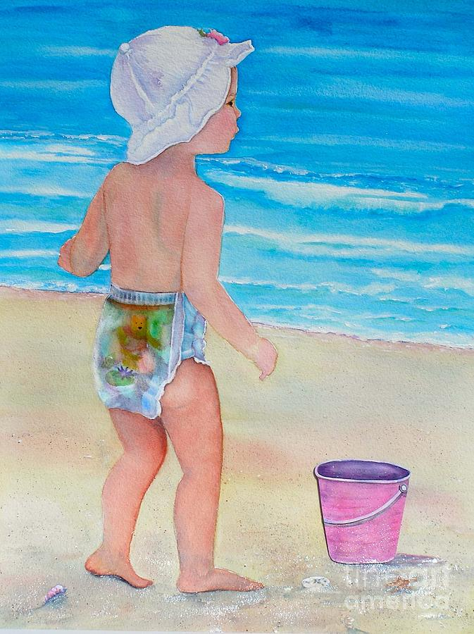 Baby Painting - Beach Baby by Midge Pippel