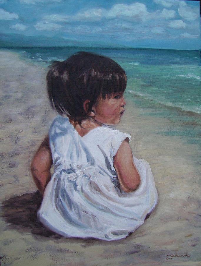 Children Painting - Beach Baby by Tahirih Goffic