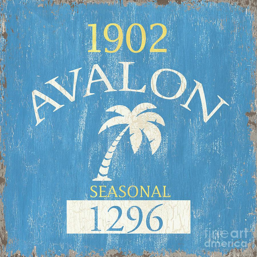 Beach Painting - Beach Badge Avalon by Debbie DeWitt