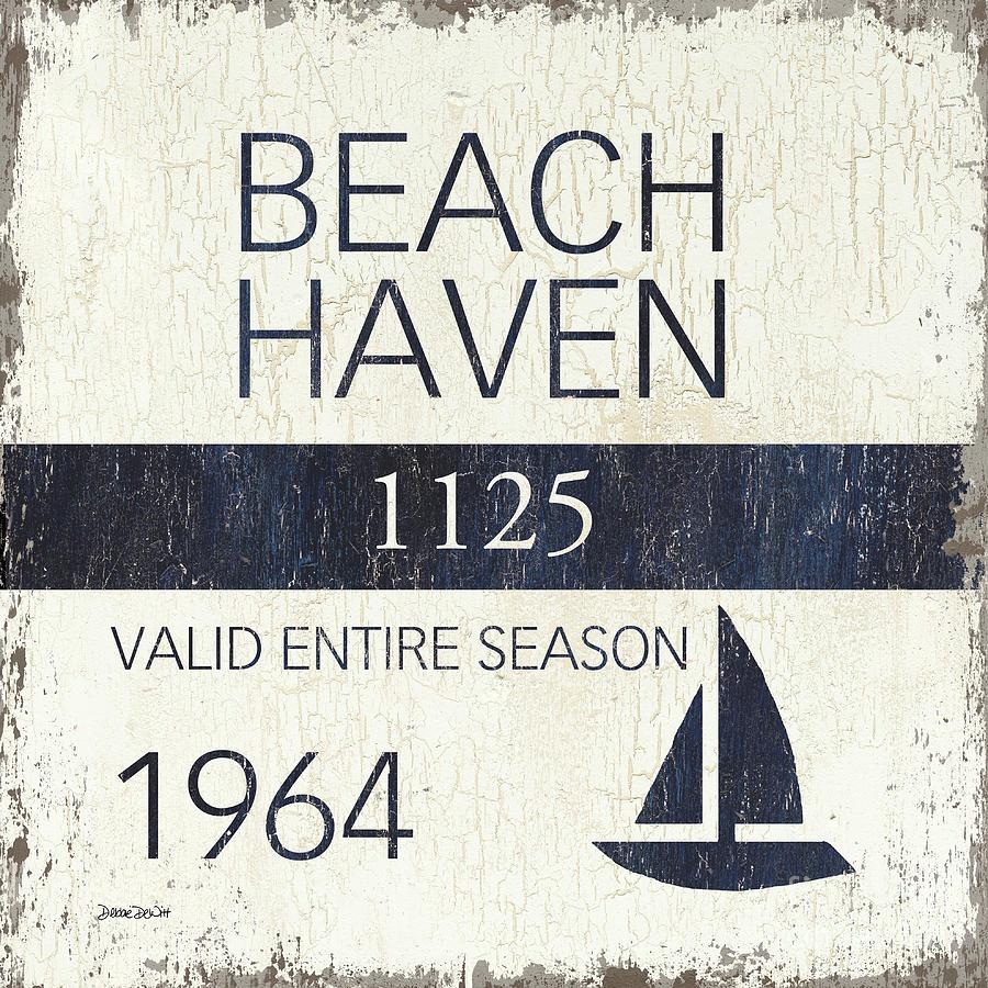 Beach Painting - Beach Badge Beach Haven by Debbie DeWitt
