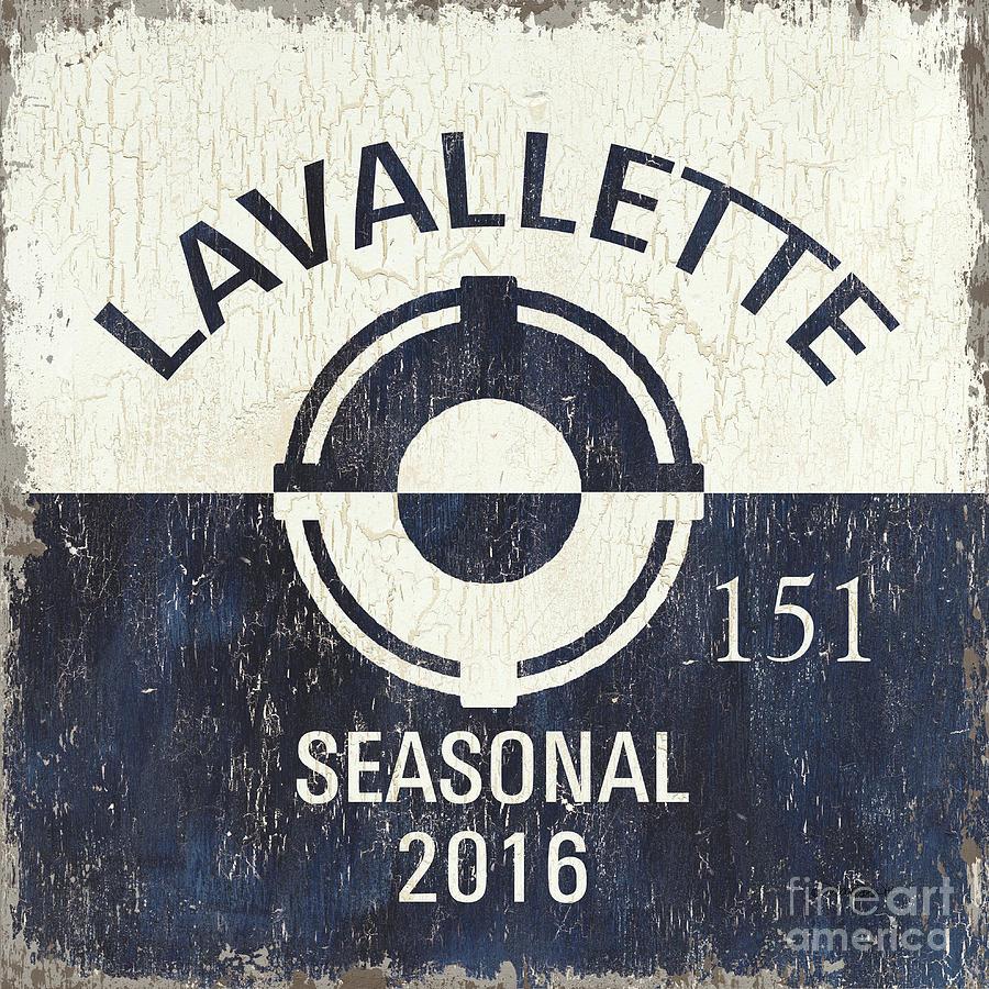Lavallette Painting - Beach Badge Lavalette by Debbie DeWitt