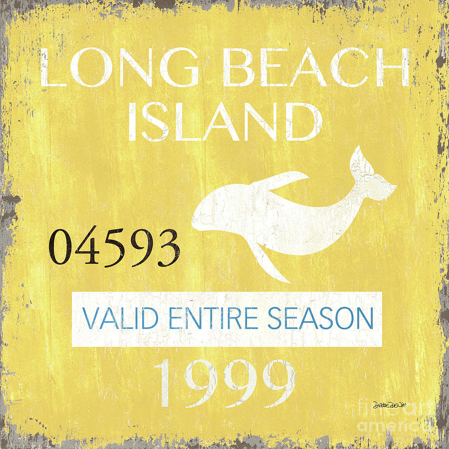 Beach Painting - Beach Badge Long Beach Island 2 by Debbie DeWitt