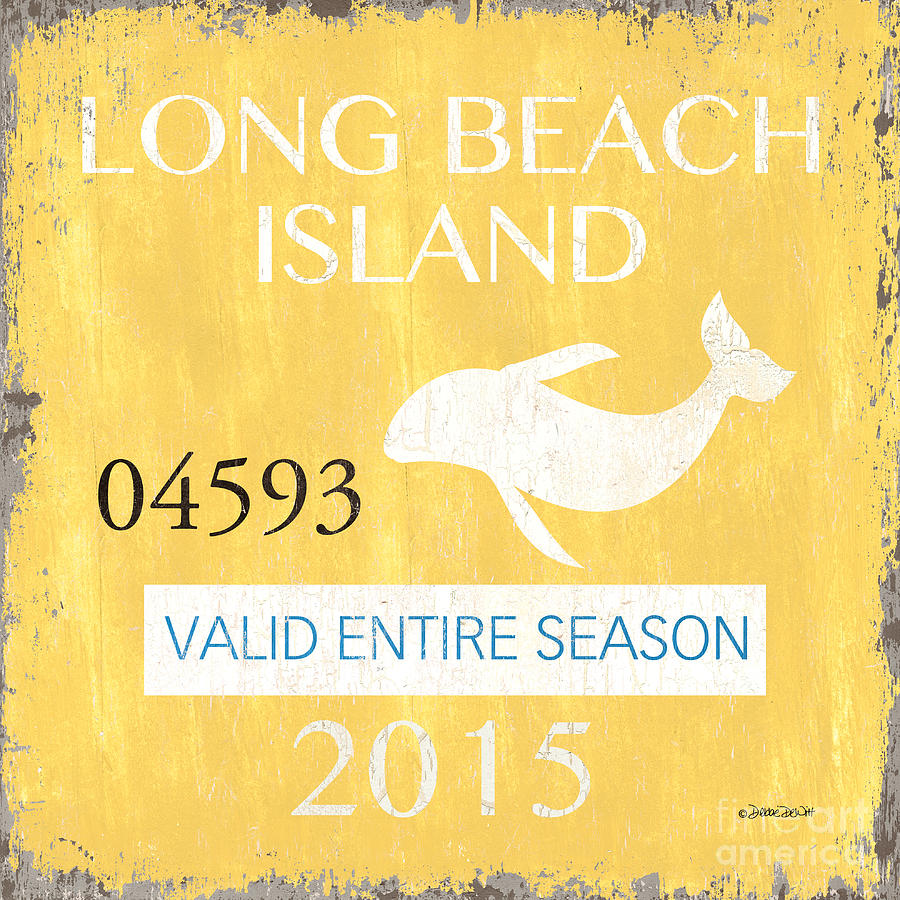Long Beach Island Painting - Beach Badge Long Beach Island by Debbie DeWitt