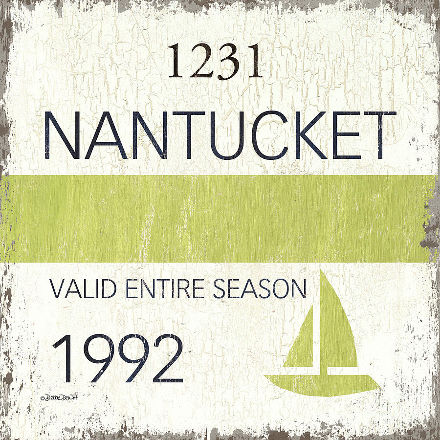 Beach Badge Nantucket by Debbie DeWitt
