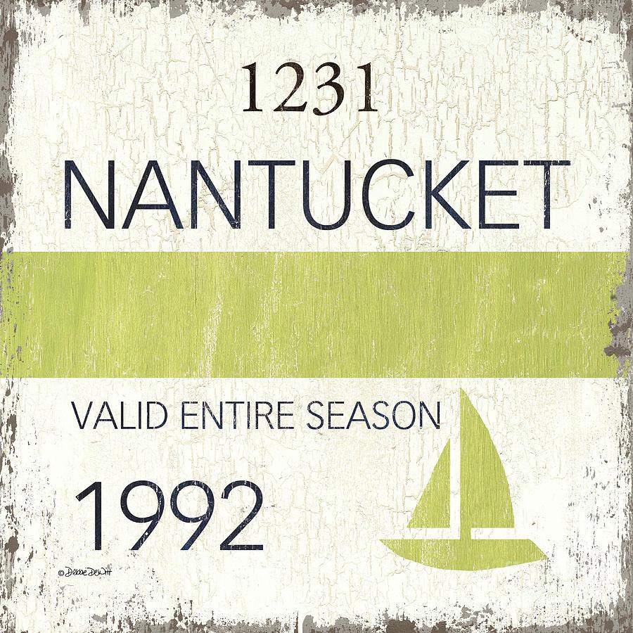 Nantucket Painting - Beach Badge Nantucket by Debbie DeWitt