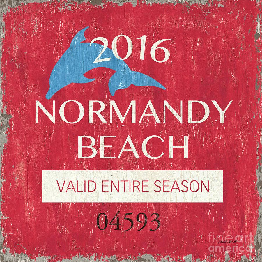 Beach Painting - Beach Badge Normandy Beach by Debbie DeWitt