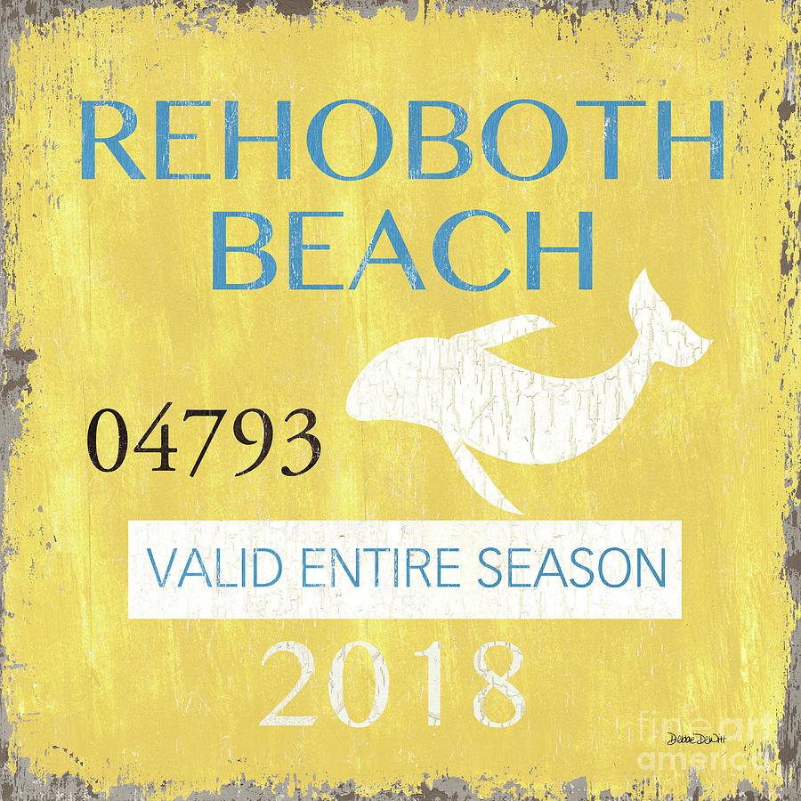 Beach Badge Rehoboth Beach by Debbie DeWitt