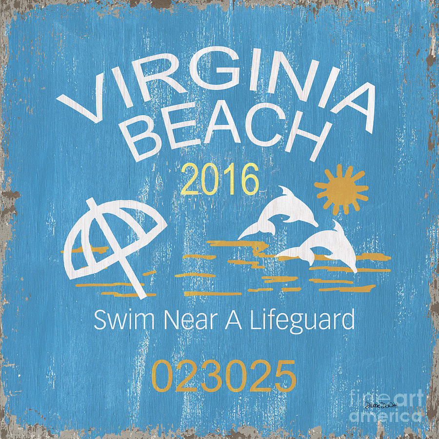 Beach Badge Virginia Beach by Debbie DeWitt