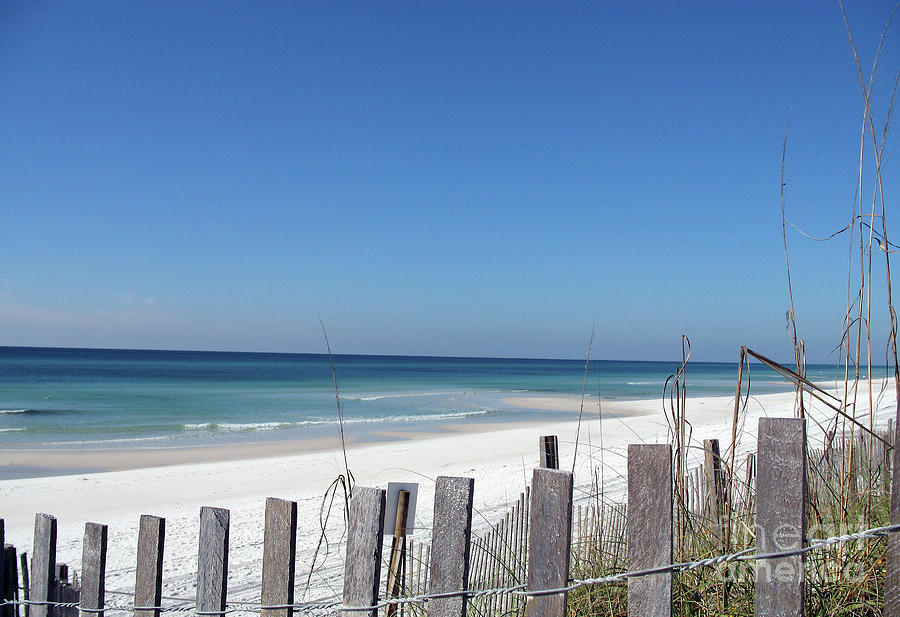 Beach Photograph - Beach Behind The Fence by Christiane Schulze Art And Photography