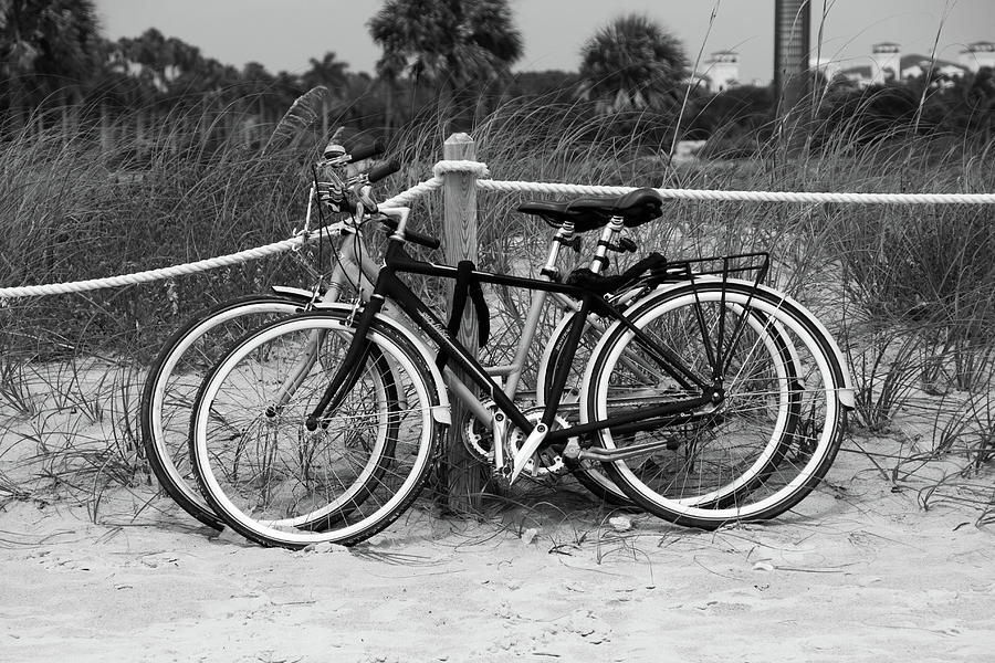 Beach Photograph - Beach Bicycles by Frank Molina