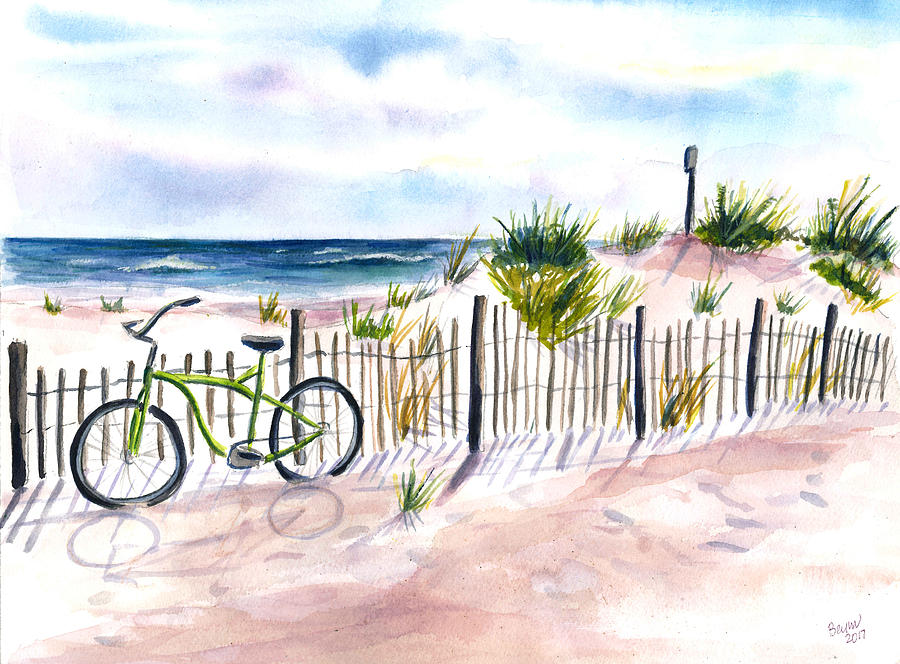 Beach Bike at Seaside by Clara Sue Beym