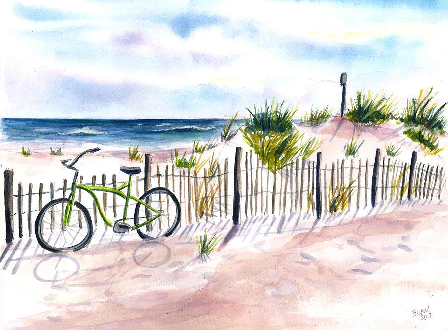 Beach Bike at Seaside by Clara Sue Beym