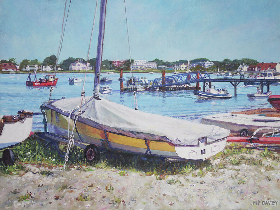 Coast Painting - Beach Boat Under Cover by Martin Davey