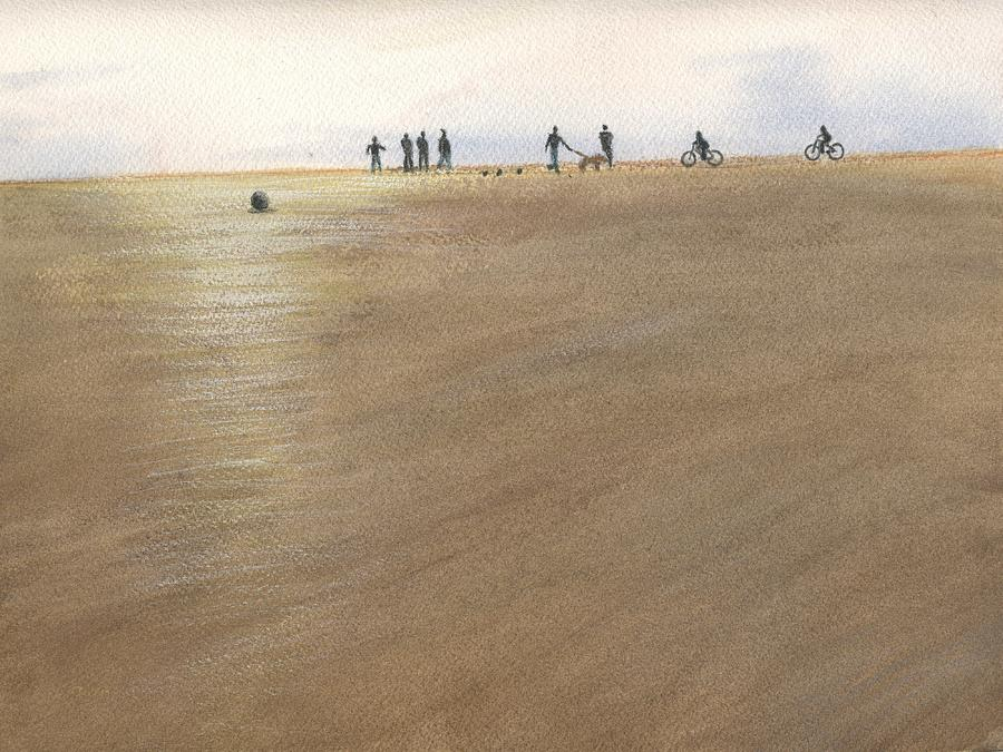 Beach Bocce Bikes by Peter Senesac