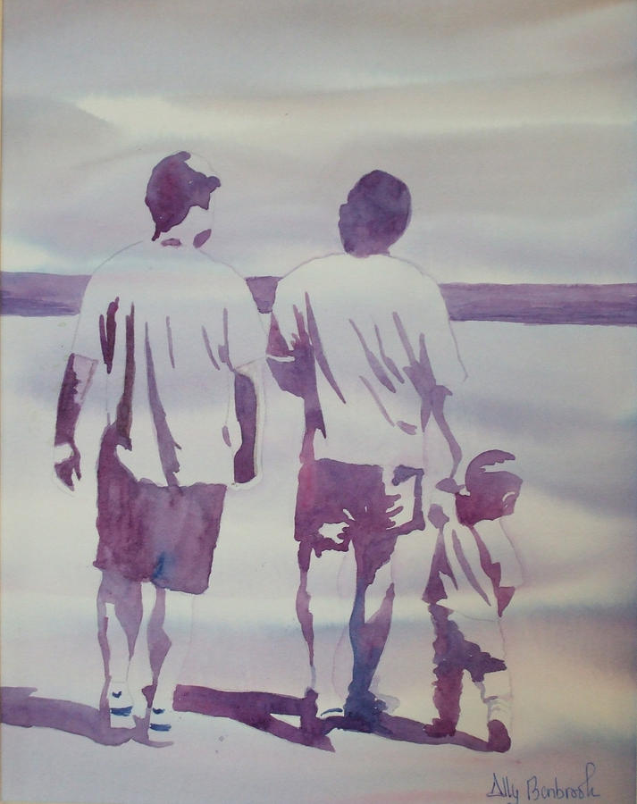 Family Painting - Beach Boys by Ally Benbrook