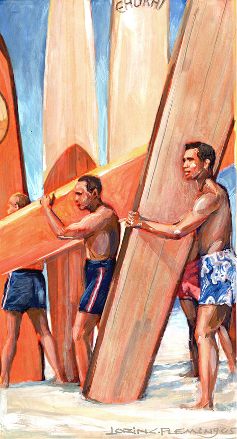 Beach Boys Painting by Lorin Fleming
