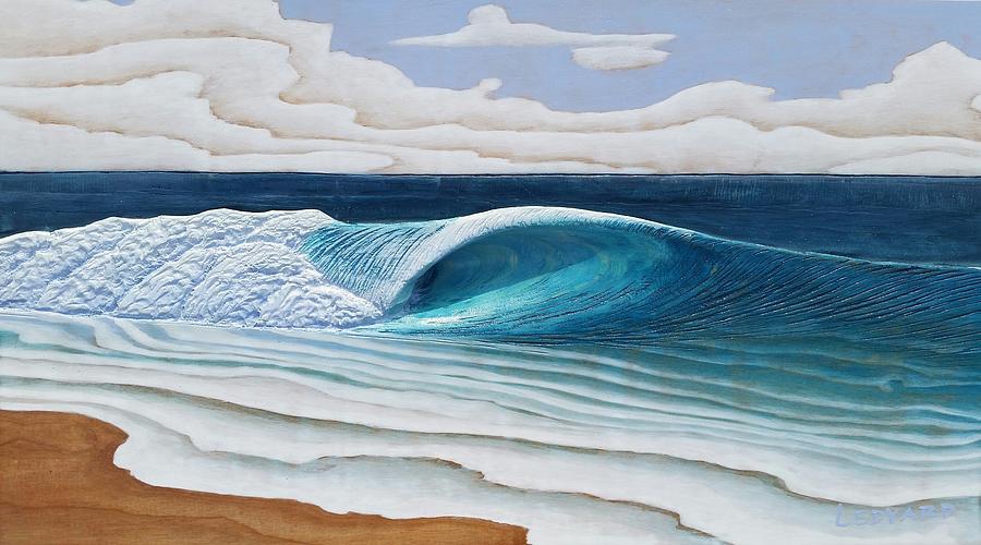 Beach Break Barrel by Nathan Ledyard