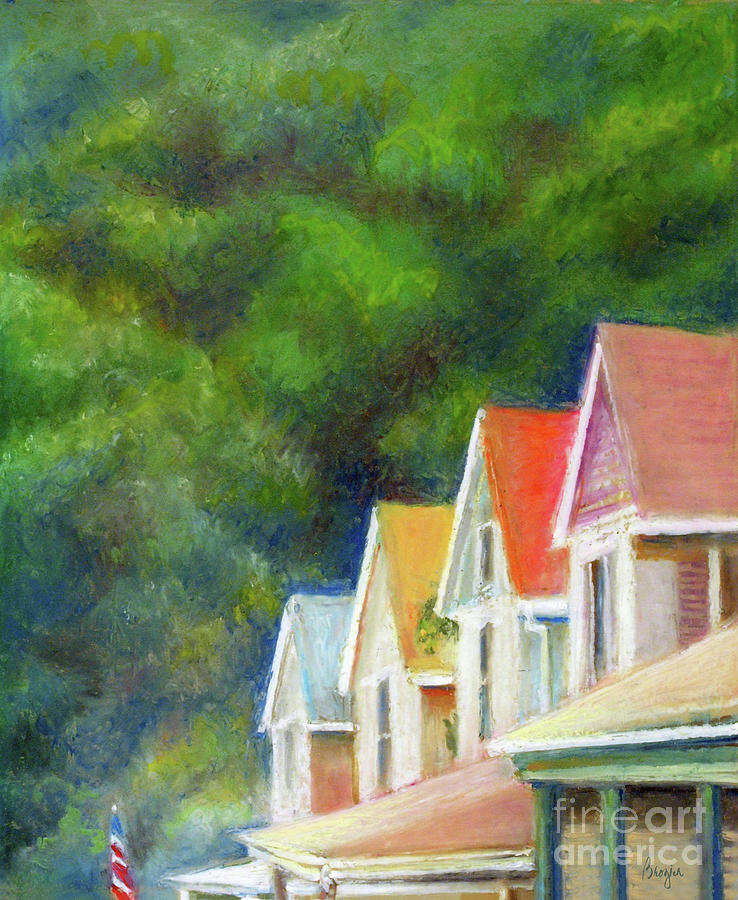 Beach Bungalows Painting By Barbara Brozich