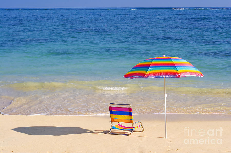Afternoon Photograph - Beach Chair by Tomas del Amo - Printscapes