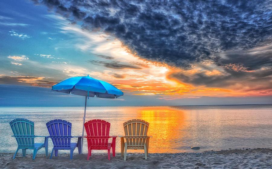 Beach Photograph - Beach Chairs by Brian Mollenkopf