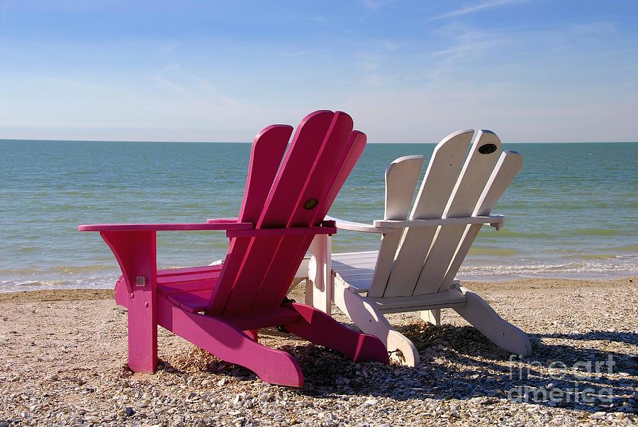 Beach Chairs Photograph - Beach Chairs by David Lee Thompson