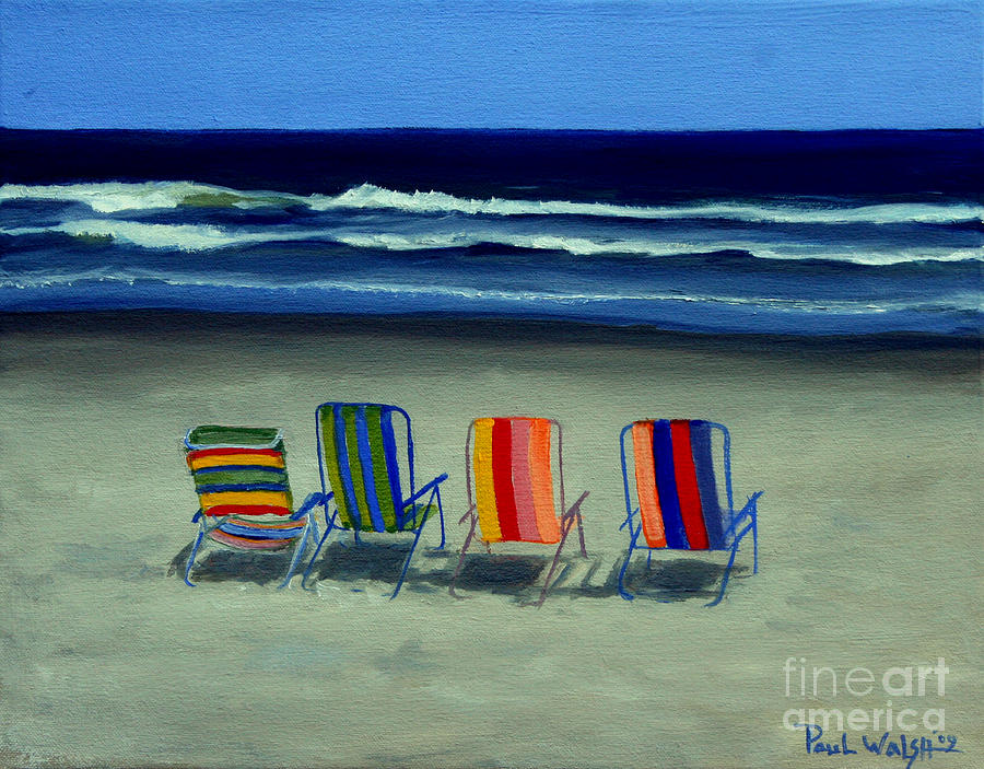Beach Chairs Painting By Paul Walsh