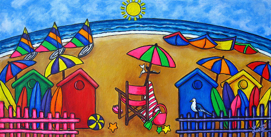 Beach Painting - Beach Colours by Lisa  Lorenz