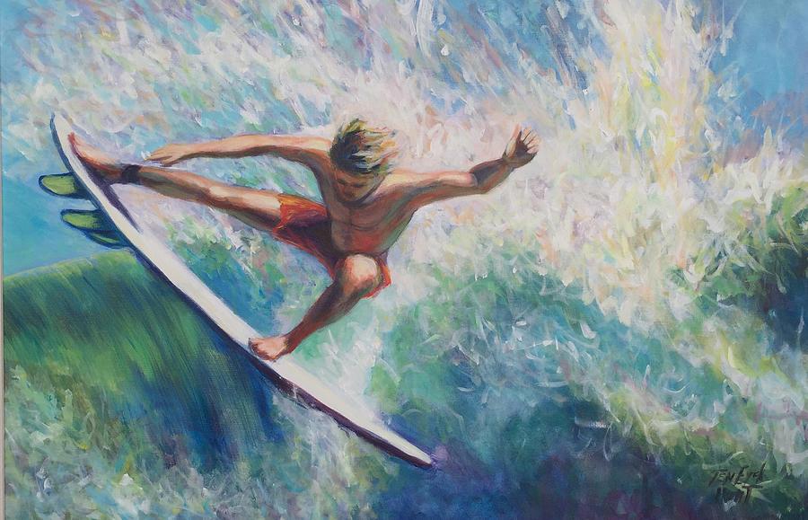 Beach Comber series, Surfer 1 by Gretchen Ten Eyck Hunt