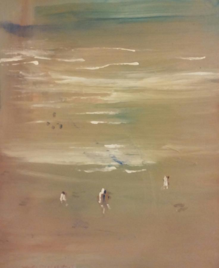 Beach Combers Painting by Gregory Dallum
