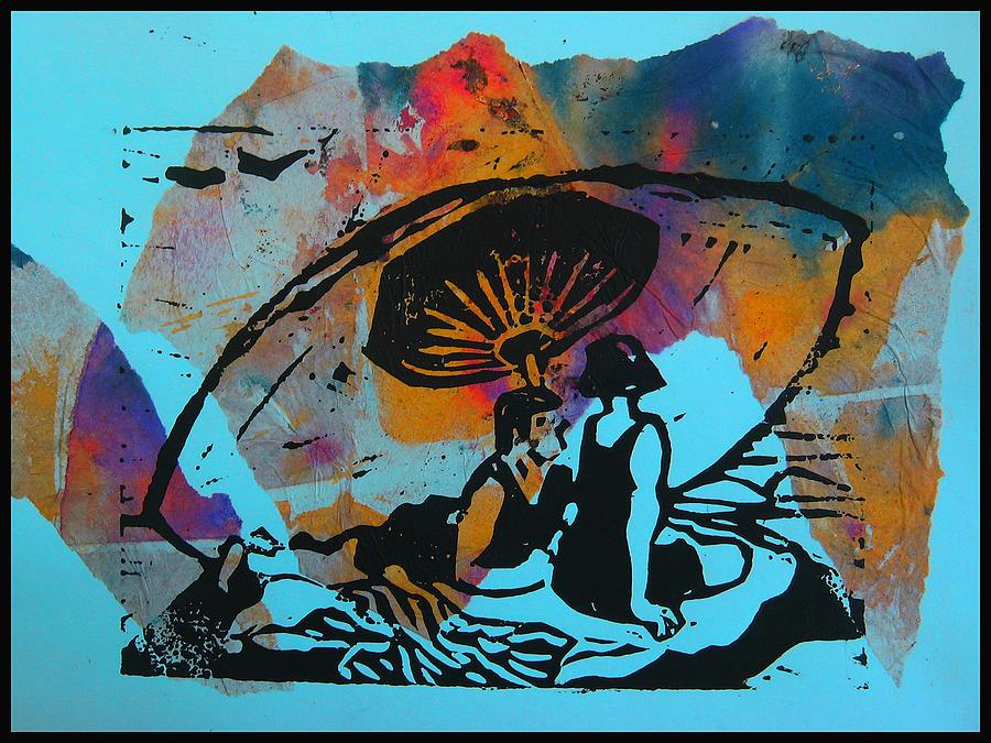 Beach Mixed Media - Beach Couple 1 by Adam Kissel