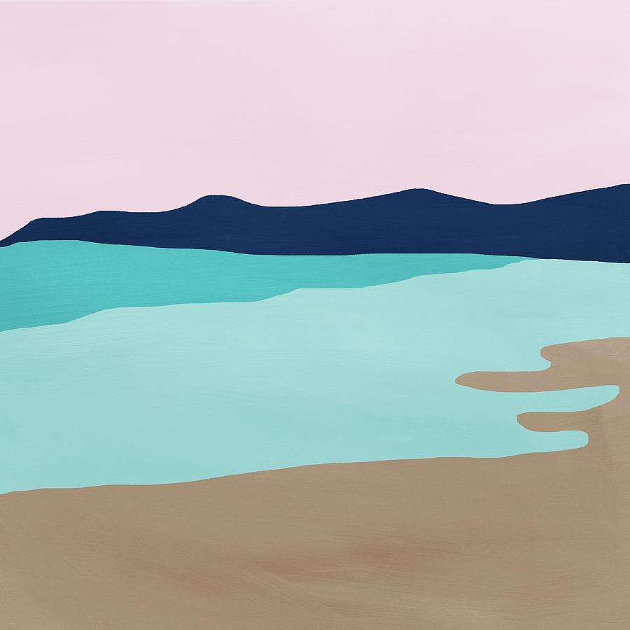 Beach Mixed Media - Beach Cove- Art by Linda Woods by Linda Woods