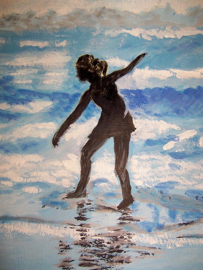 Beach Painting - Beach Dancer by Ann Whitfield