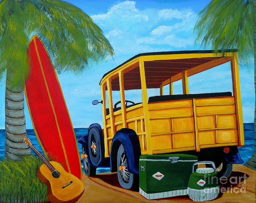 Beach Painting - Beach Day by Anthony Dunphy