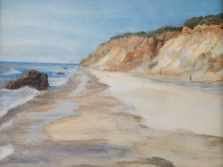 Landscape Painting - Beach Day Aquinnah by Cynthia Woehrle