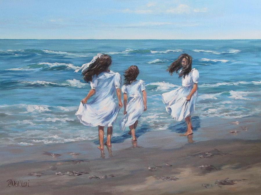 Beach Painting - Beach Day by Karen Ilari