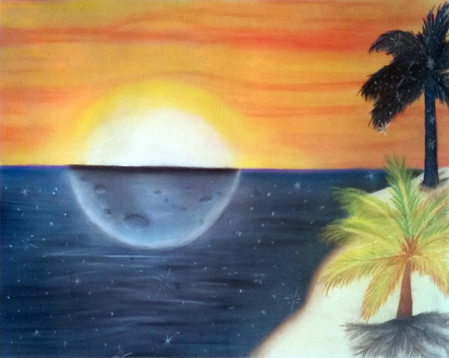 Beach Pastel - Day Night Beach by Tabitha Lemus