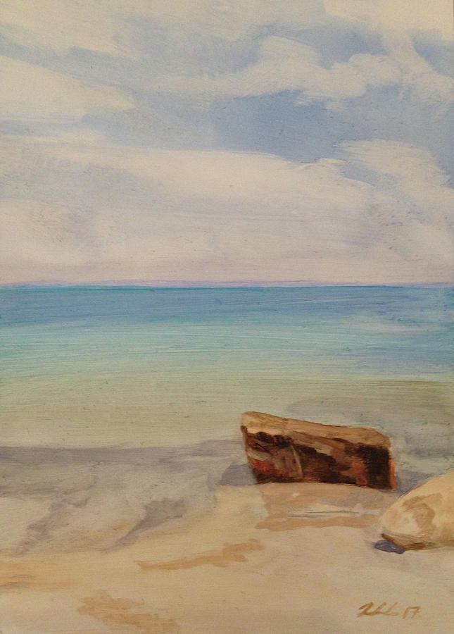 Landscape Painting - Beach Day Woodshole by Cynthia Woehrle