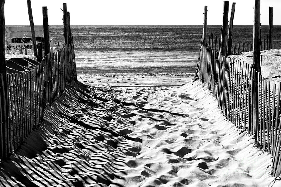 Beach entry photograph beach entry black and white by john rizzuto