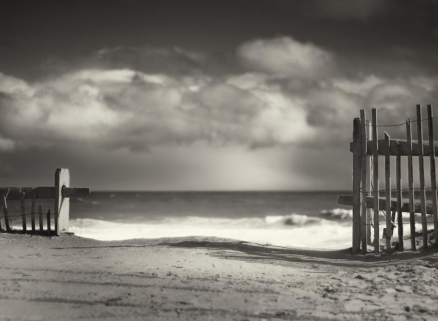 Beach Photograph - Beach Fence - Wellfleet Cape Cod by Dapixara Art