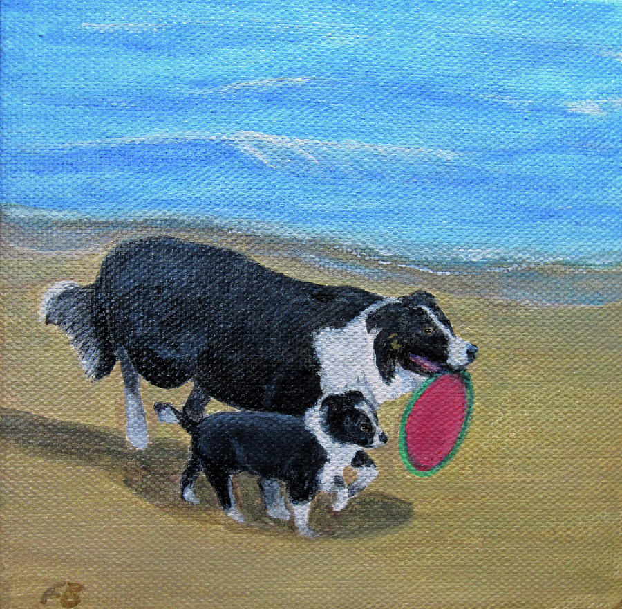 Beach Frisbee by Fran Brooks