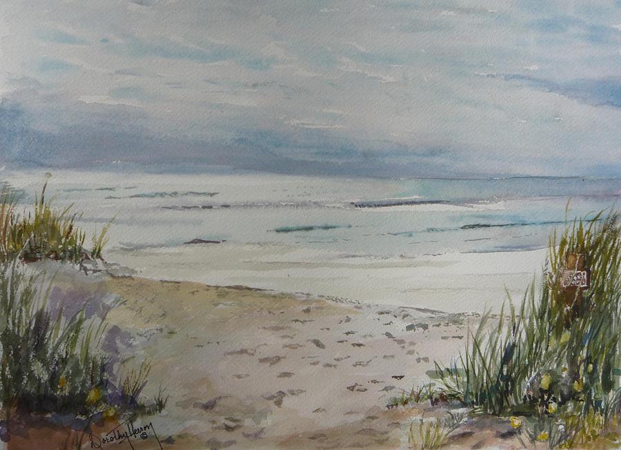 Ocean Painting - Beach Front by Dorothy Herron