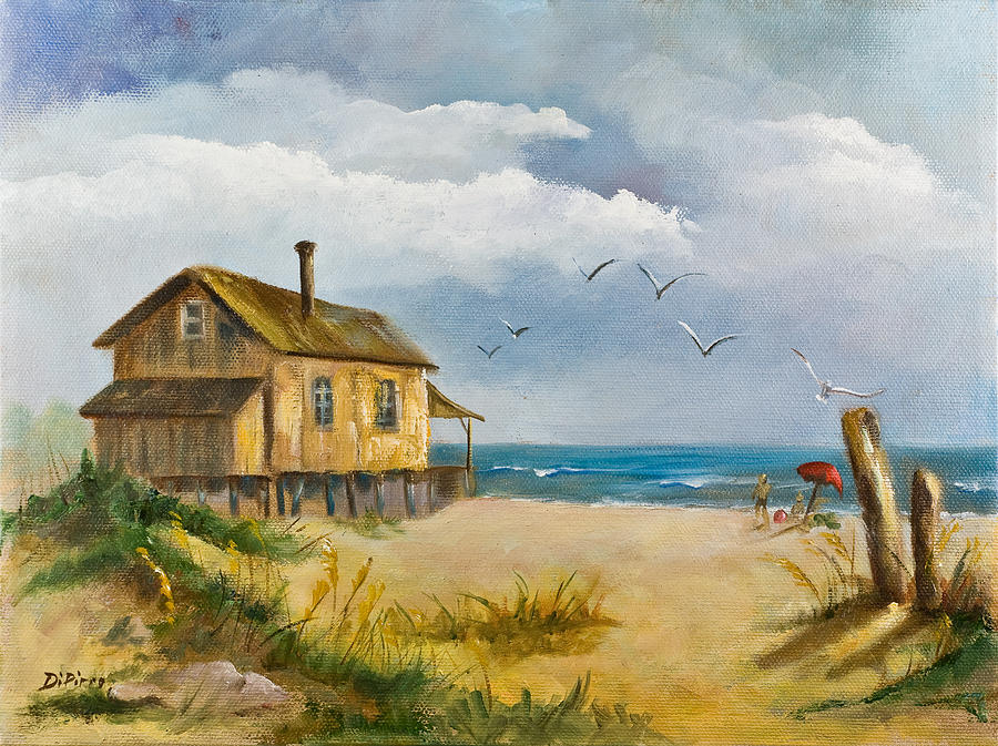 Beach Getaway Painting by Joni Dipirro