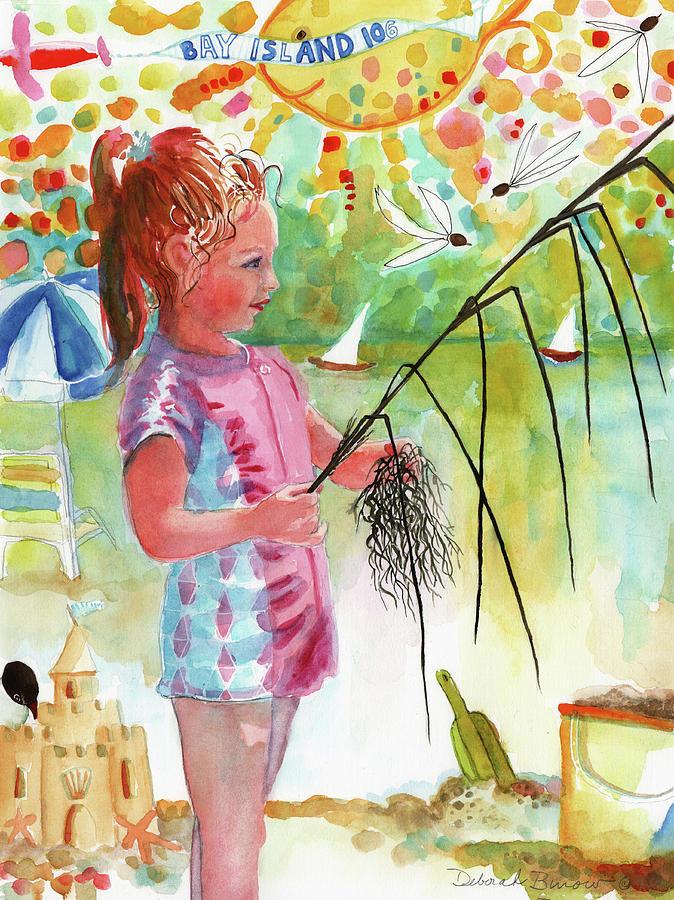 Summertime Painting - Beach Girl by Deborah Burow