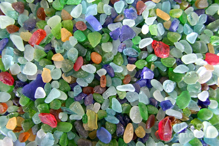 Sea Glass Photograph - Beach Glass Mix by Mary Deal