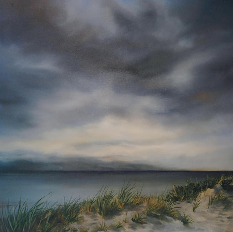 Clouds Painting - Beach Grass by Richard Cole