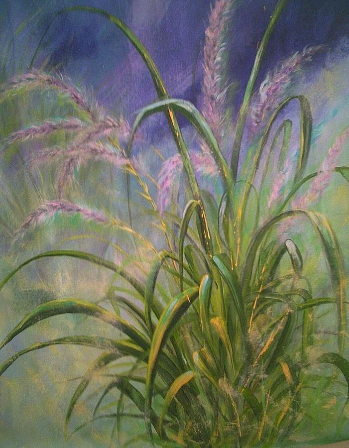 Beach Grass Painting by Sue Lewis